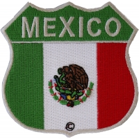 Mexico Shield Flag Patch   Embroidered Patches