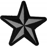 Reflective Nautical Star Patch | Embroidered Patches