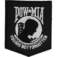 POW MIA Patch Black White | US Military Veteran Patches