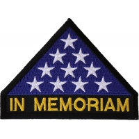 In Memoriam Folded Flag Patch | US Military Veteran Patches