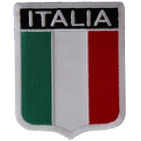 Italia Shield Patch By Ivamis Trading 2.5 x 3.25 inch P2618 Free Shipping Italy