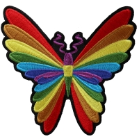 Colorful Butterfly Patch   Embroidered Patches