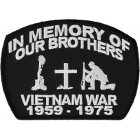 In Memory Of Our Brothers Vietnam War Patch | US Military Vietnam Veteran Patches