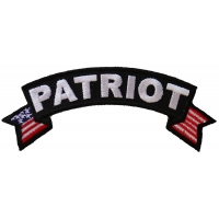 Patriot Rocker Patch With US Flag | US Military Veteran Patches