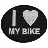 I Love My Bike Patch For Bikers | Embroidered Biker Patches