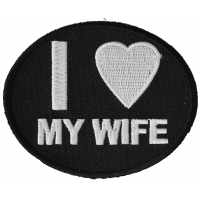 I Love My Wife Patch | Embroidered Patches