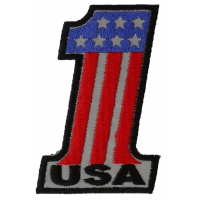Reflective No 1 USA Patch | Embroidered Patches