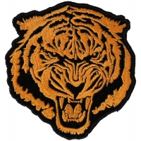 Small Orange Baron Tiger Patch | Embroidered Patches