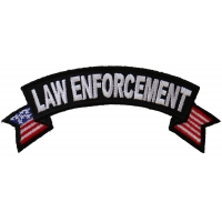 Law Enforcement US Flag Small Rocker Patch | Embroidered Patches