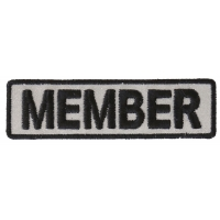 Member Patch 3.5 Inch Reflective | Embroidered Patches
