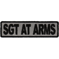 Sgt At Arms Patch 3.5 Inch Reflective | Embroidered Patches