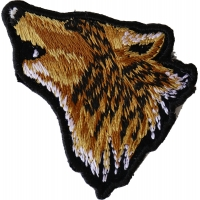 Mini Wolf Head Patch