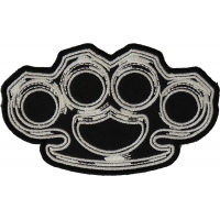 Brass Knuckles Patch | Embroidered Patches
