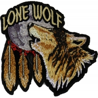Lone Wolf Howling At The Moon Small Patch | Embroidered Biker Patches