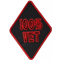 100 Percent Vet Patch | US Military Veteran Patches