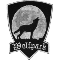 Wolfpack Patch With Howling Wolf | Embroidered Biker Patches