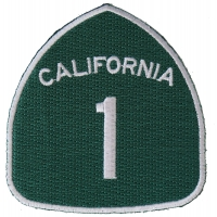 California Route 1 Patch | Embroidered Biker Patches