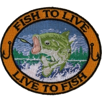 Fish To Live Bass Patch For Fishermen | Embroidered Patches