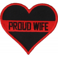 Thin Red Line Proud Wife Patch For Firefighters | Embroidered Patches