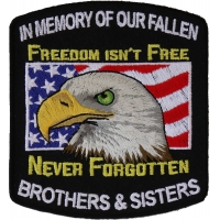 In Memory Of Our Fallen Military Brothers And Sisters Patch | Embroidered Patches