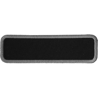 Blank Name Tag Patch Gray Border | Embroidered Patchese