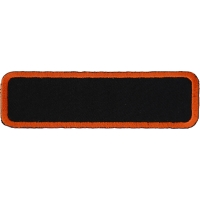 Blank Name Tag Patch Orange Border | Embroidered Patches