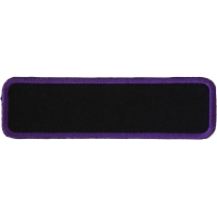 Blank Name Tag Patch Purple Border | Embroidered Patches