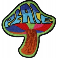 Peace Mushroom Patch Psychedelic Hippie | Embroidered Patches