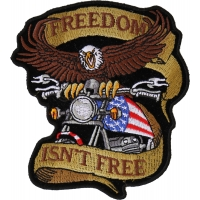 Patriotic Eagle Biker Small Patch Freedom Isn't Free