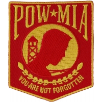 POW MIA Red And Yellow Patch | US POW MIA Military Veteran Patches