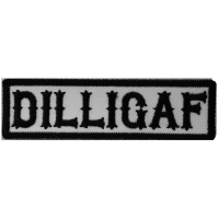 DILLIGAF Patch Black On White