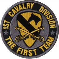 1st Cavalry Division Patch The First Team
