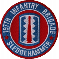197th Infantry Brigade Patch Sledgehammer