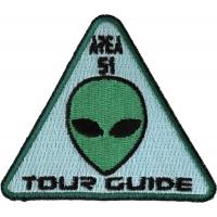 Area 51 Tour Guide Patch Alien Head