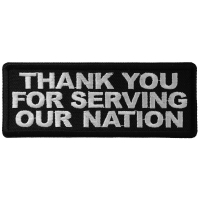 Thank You For Serving Our Nation Patch