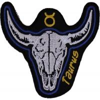 Taurus Skull Zodiac Sign Patch