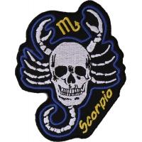 Scorpio Skull Zodiac Sign Patch