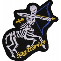 Sagittarius Skull Zodiac Sign Patch