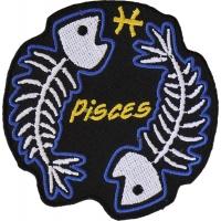 Pisces Skull Zodiac Sign Patch