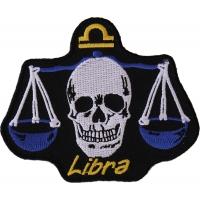 Libra Skull Zodiac Sign Patch