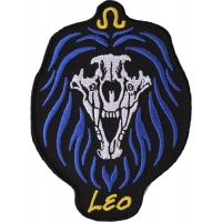 Leo Skull Zodiac Sign Patch