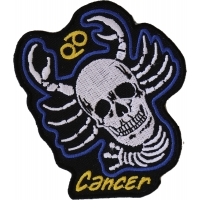 Cancer Skull Zodiac Sign Patch