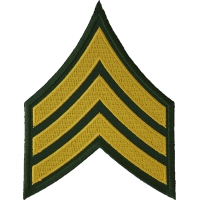 Green and Yellow Sergeant Chevron Patch