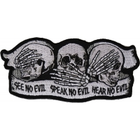 See No Evil Speak No Evil Hear No Evil Skull Patch