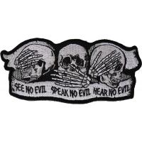 See No Evil Speak No Evil Hear No Evil Skull Patch