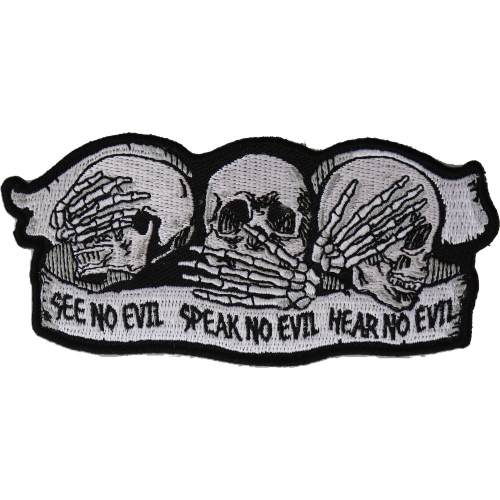 See No Evil Hear No Evil Speak No Evil Decal 5 Shipped from the United States
