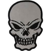 Small Reflective Skull Patch