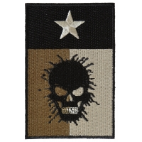 Texas Flag Skull Patch