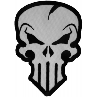 Nasty Skull Patch in White