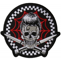 Switchblades Billy Skull Spider Web Patch